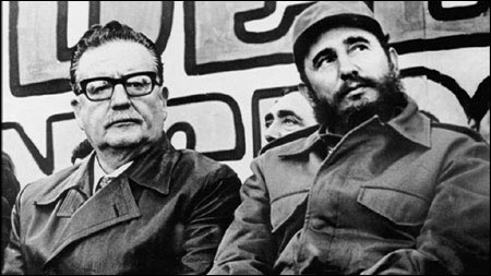 President Allende of Chile with Castro